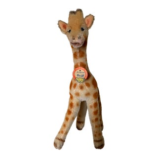 1950s Steiff Giraffe Toy With Tag For Sale