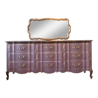 Lilac/Lavender French Provincial Triple Drawer Dresser