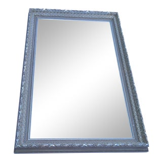 French Hand Carved X-Large Rectangular Mirror by La Marche For Sale