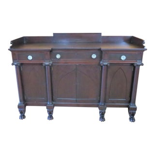 Early 20th Century Potthast Gothic Empie Mahogany Sideboard For Sale