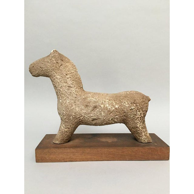 1960s 1960s Vintage Rustic Modern Studio Pottery Horse Sculpture For Sale - Image 5 of 10