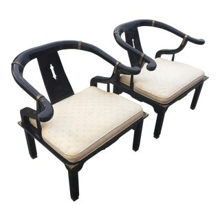 James Mont for Century Horseshoe Ming Chairs - a Pair