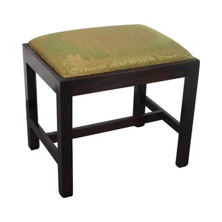 Antique Mahogany Chippendale Ottoman For Sale