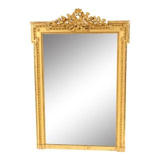 Louis XVI Style Gilt Wood Mirror For Sale