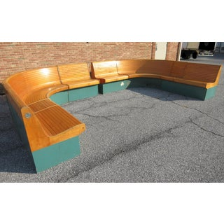Vintage Brunswick Horseshoe Bench Preview