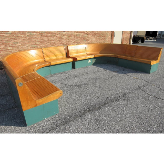 This Vintage 1950's Brunswick Horseshoe Bench was manufactured in Cincinnati, Ohio for Bowling Alley Furniture. I recently...