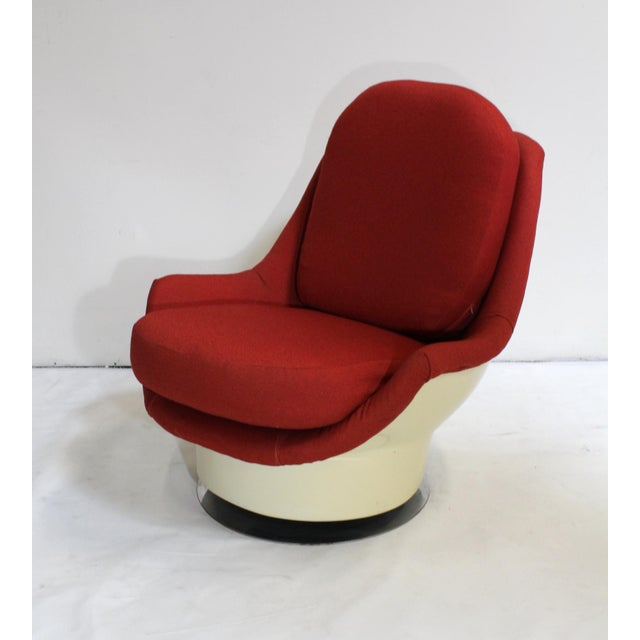 Milo Baughman Swivel Lounge Chair - Image 5 of 8