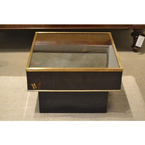 Mid-Century Modern Mid-Century Tortoise Lacquered Table, France For Sale - Image 3 of 8