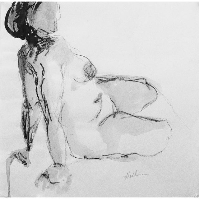 Model in Charcoal Drawing by Martha Holden - Image 1 of 3