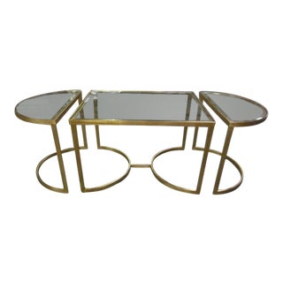 Italian Gilt Iron Cocktail Table in the Style of Maison Bagues