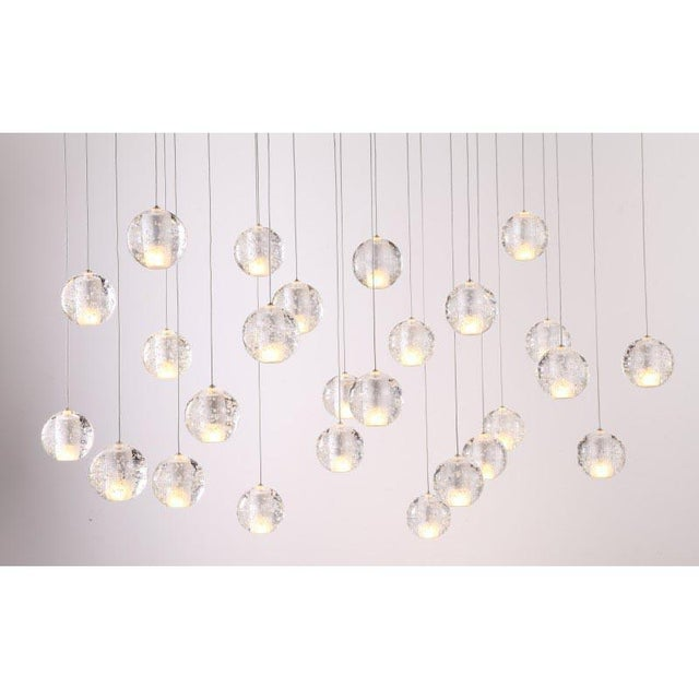Modern Meteor Shower Chandelier For Sale - Image 6 of 11