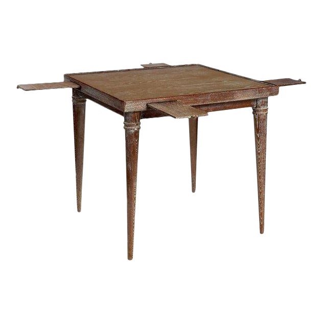 Vintage Ceruse Finishing Wooden Game Table For Sale