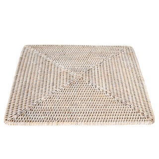 Artifacts Rattan Square Placemat For Sale