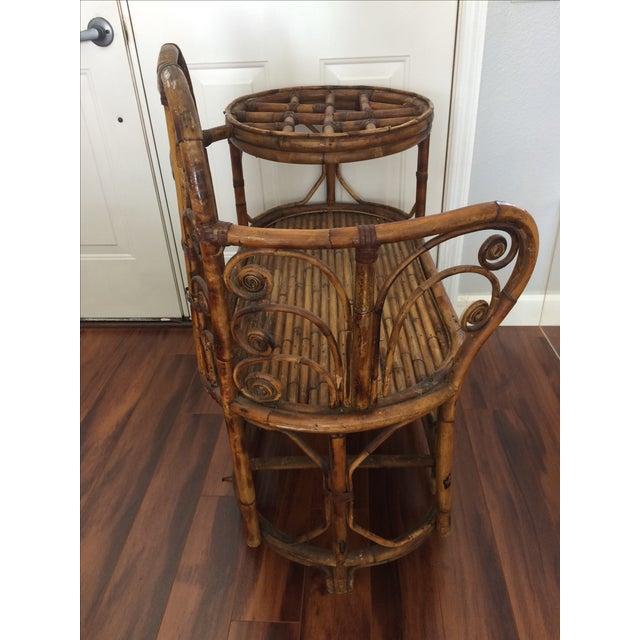 Vintage Bamboo & Rattan Gossip Bench - Image 8 of 10