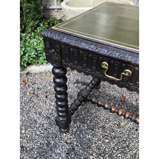 Early 20th Century Baroque Style Relief-Carved Writing Desk For Sale In New York - Image 6 of 13