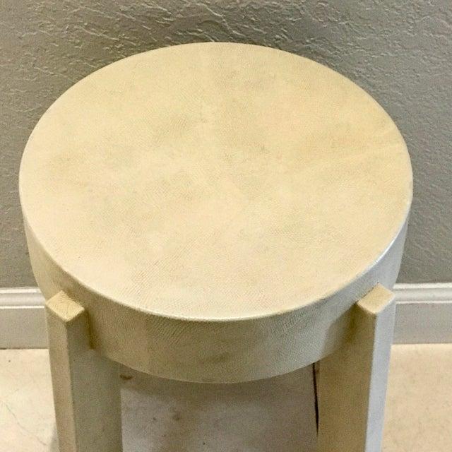 Karl Springer Albino Python Side Table - Image 11 of 12