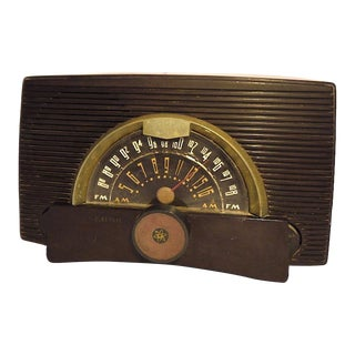 General Electric Art Nouveau Mid Century Am/Fm Radio For Sale