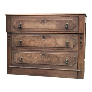 20th Century Traditional Eastlake Chest With Teardrop Pulls