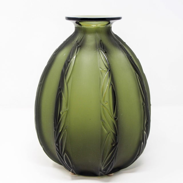 1950s Mid-Century Sabino Glass Vase For Sale - Image 5 of 10