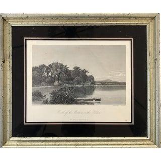 Original Antique Engraving Upper Hudson River New York 1870