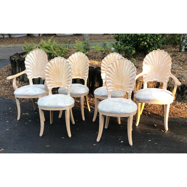 Vintage Clam Shell Grotto Chairs - Set of 6 For Sale - Image 11 of 11