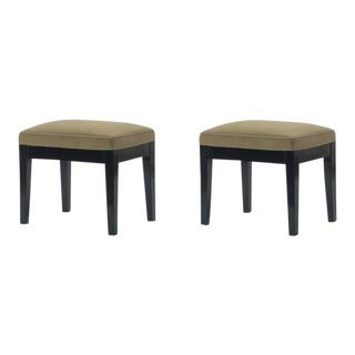 Style of Jean Michel Frank Pair of Stools For Sale