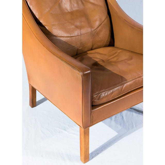 Børge Mogensen Model No. 2207 Leather Lounge Chair For Sale In Los Angeles - Image 6 of 9