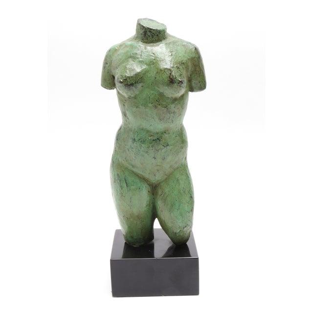 Modern Bronze Nude Torso Sculpture For Sale In New York - Image 6 of 6