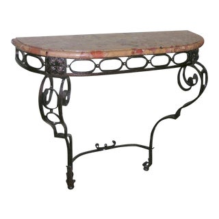 French Iron Console For Sale