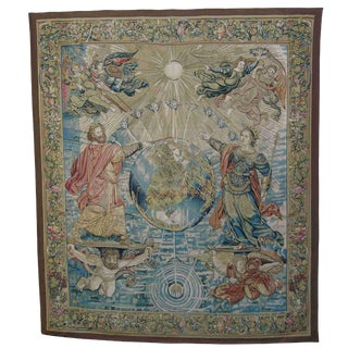 Authentic French Needlework Tapestry 8'2'' X 7' Ft For Sale