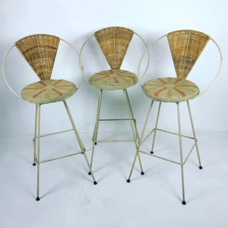 1960sVintage Arthur Umanoff by Shaver Howard Bar Stools- Set of 3 Preview