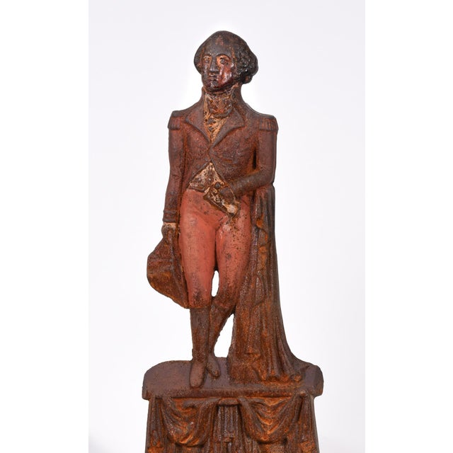 Metal Pair of Mid-20th Century George Washington Andirons For Sale - Image 7 of 8