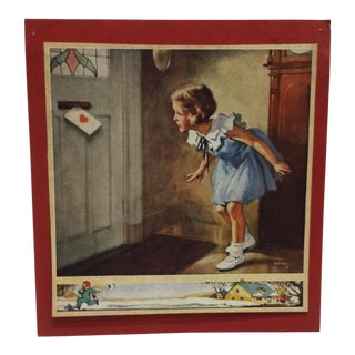 "1930s Vintage ""Love Letter"" Gaferon Mounted Print For Sale"