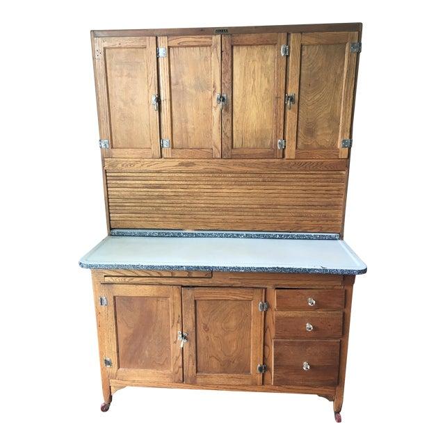 Oak Sellers Kitchen Hutch For Sale