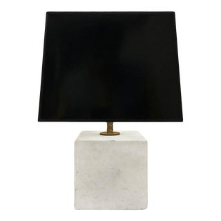 1970s Marble Cube Lamp For Sale
