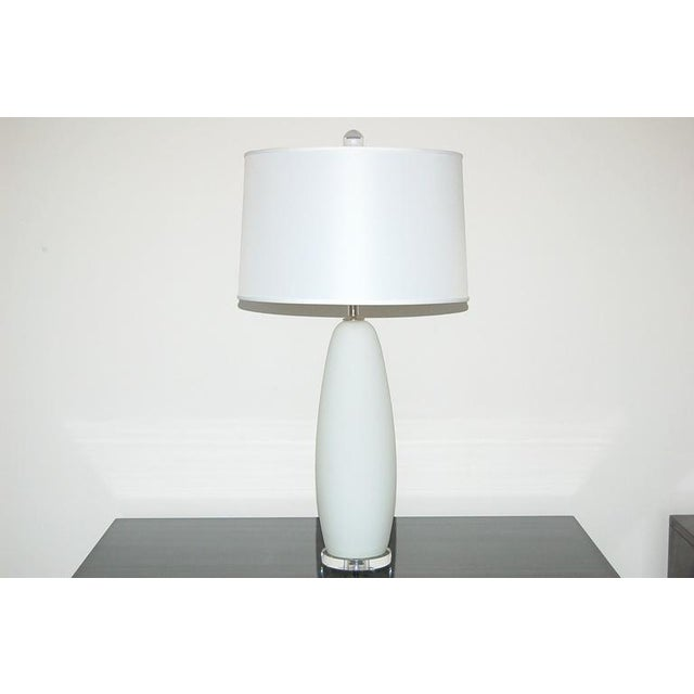 Vintage Murano Glass Table Pendant Lamps White For Sale In Little Rock - Image 6 of 8