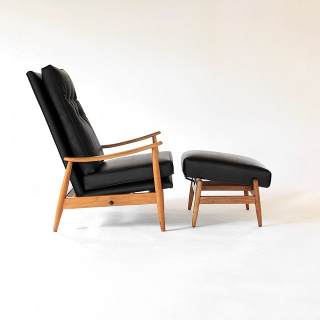 Presenting this gorgeous edition of Milo Baughman's Adjustable Recliner Chair with Ottoman for James Inc. Mechanism on the...