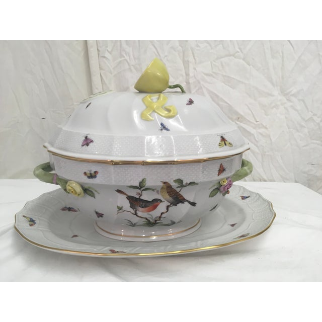 1970s Herend Rothschild Tureen W/ Underplate For Sale - Image 5 of 13