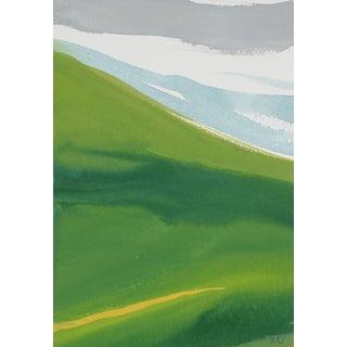 "Rob Delamater ""French Hillside I"" Gouache on Paper Landscape, 2017 2017 For Sale"