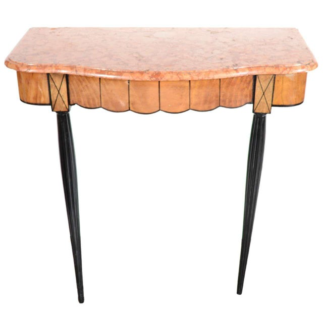 Art Deco Exotic Marble Top Console Table For Sale - Image 9 of 9