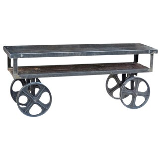 Industrial Trolley Cart Table For Sale