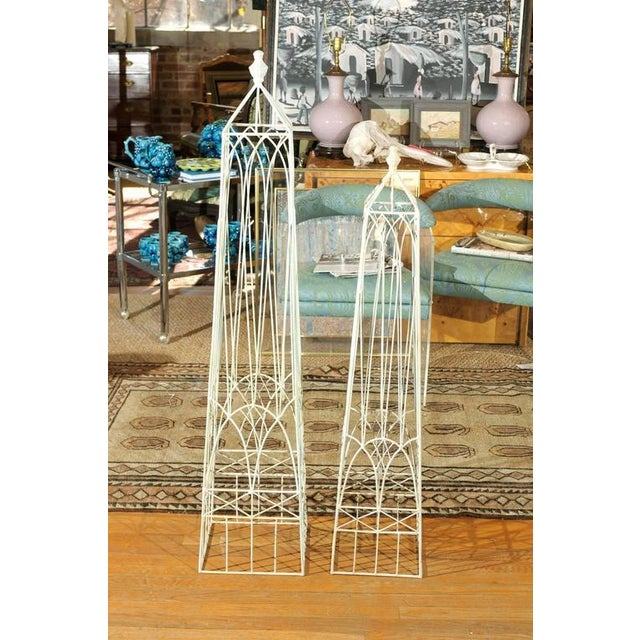 White Garden Obelisks - A Pair - Image 7 of 8