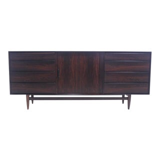 Danish Modern Rosewood Credenza w/Tambour Doors by Falster For Sale