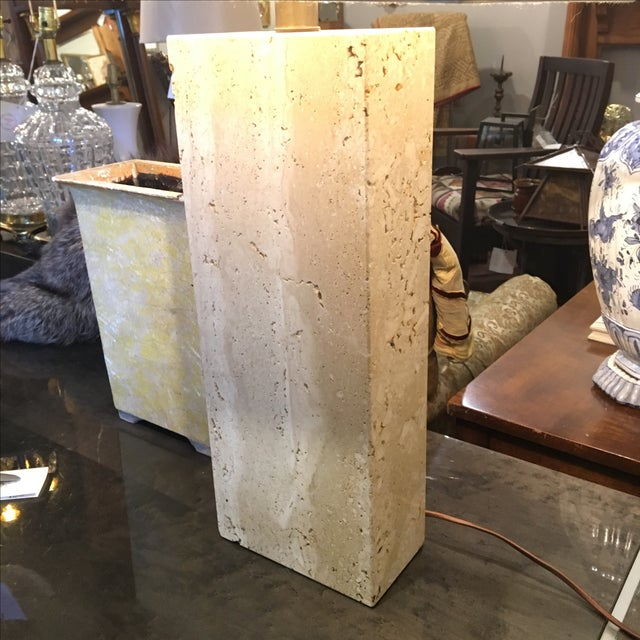 Modern Travertine Table Lamp - Image 3 of 8