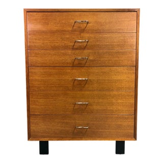 George Nelson for Herman Miller High Boy Dresser in Walnut For Sale