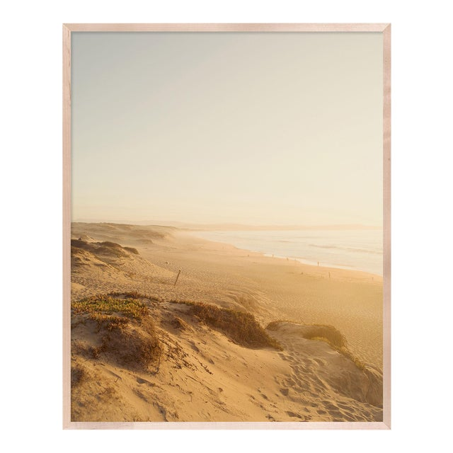Dunes by Christine Flynn in Natural Maple Framed Paper, Medium Art Print For Sale