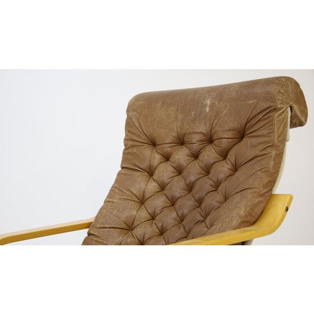 Brown 1970s Original Noburu Nakamura for Ikea Poem Chair For Sale - Image 8 of 9