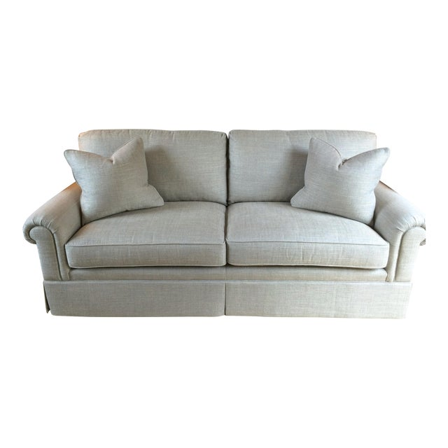 Baker Furniture Custom Sofa With Bill Sofield Fabric - Image 1 of 8