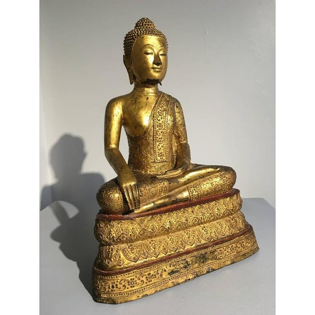 A simply stunning image of Buddha Maravijaya. Depicting the Buddha's triumphant moment of victory after conquering the...