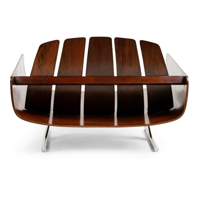 "1960s Vintage Jorge Zalszupin Brazilian ""Presidencial"" Jacaranda Armchair For Sale In Los Angeles - Image 6 of 10"